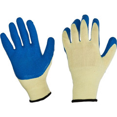 Перчатки трикотажные с латексн.текстурирован.покрытие