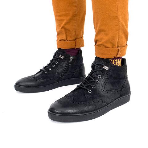 Черные зимние ботинки из нубука для мужчин которые ценят комфорт