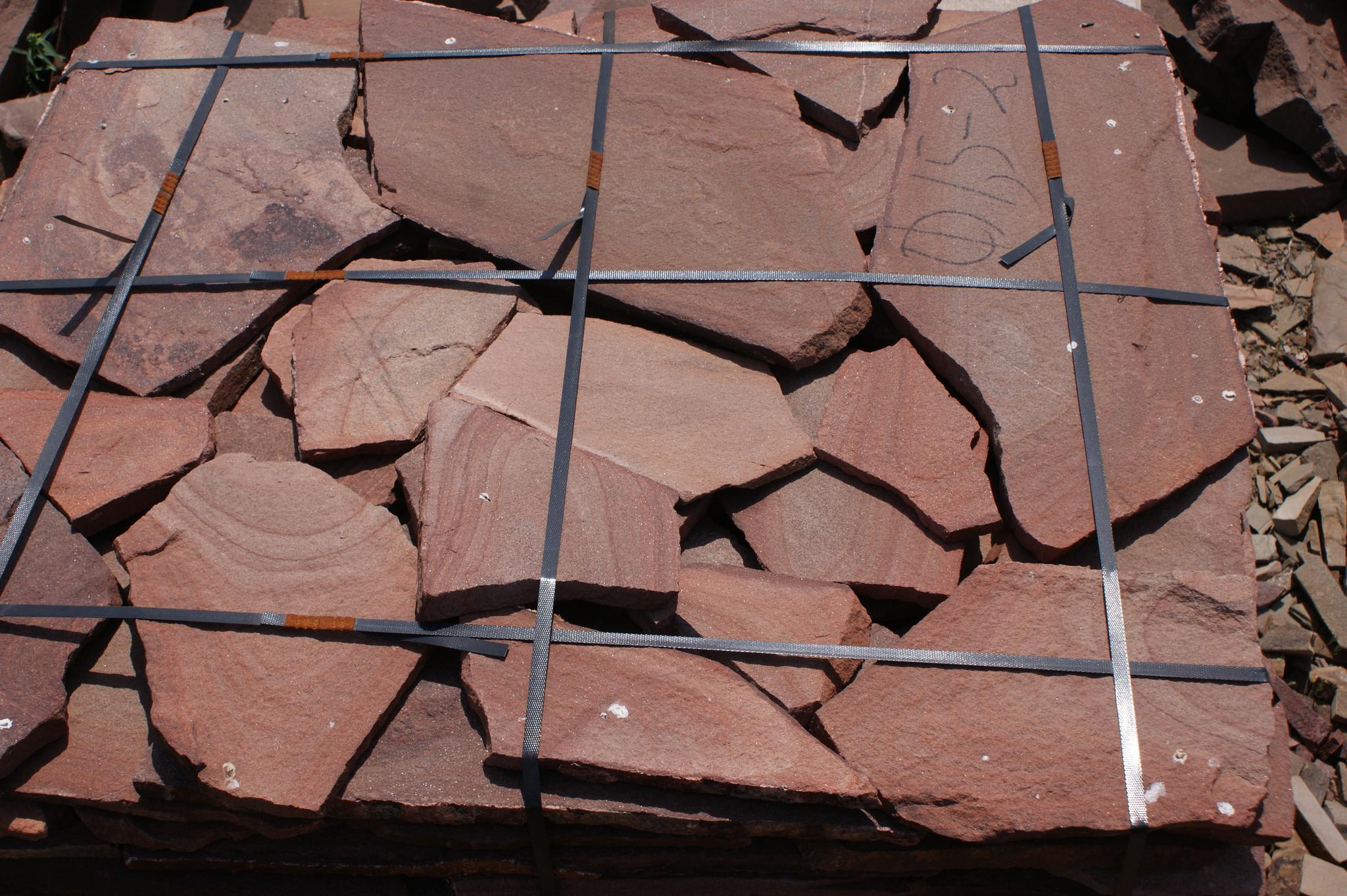 Песчаник плитняк Красный Дуб