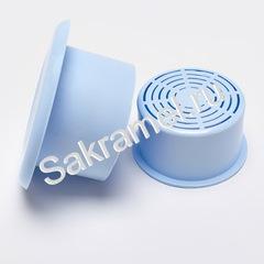 Ванночка для дезинфекции KDS для фрез (голубой, белый 100 мл)