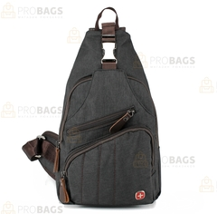 Однолямочный рюкзак SWISSWIN 7301 Серый