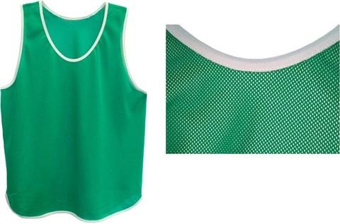 Манишка футбольная зеленая, тонкая сетка