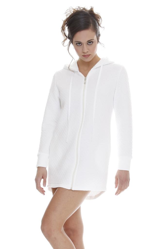 Короткий женский халат на молнии DolceVita (Женские халаты)