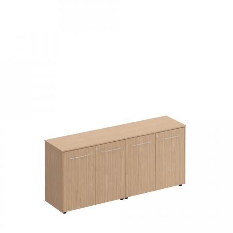 Шкаф для документов низкий закрытый( стенка из 2 шкафов) (184x46x81)