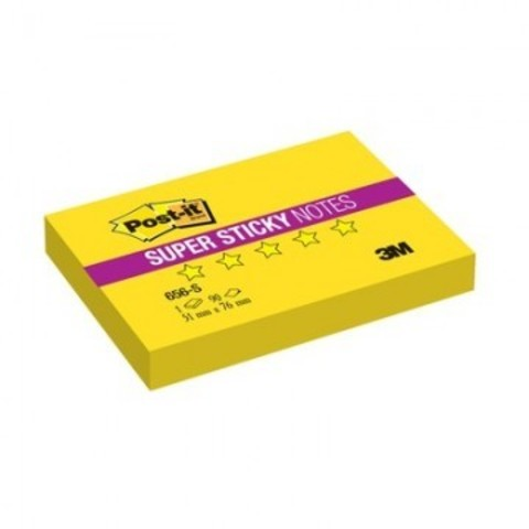 Блок-кубик Post-it Super Sticky 656-S, 76х51 желтый,90л