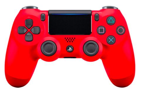 Sony PS4 Беспроводной контроллер DualShock 4 (красный, 2ое поколение)
