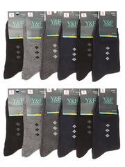 A1027 носки мужские 41-47 (12 шт.) цветные