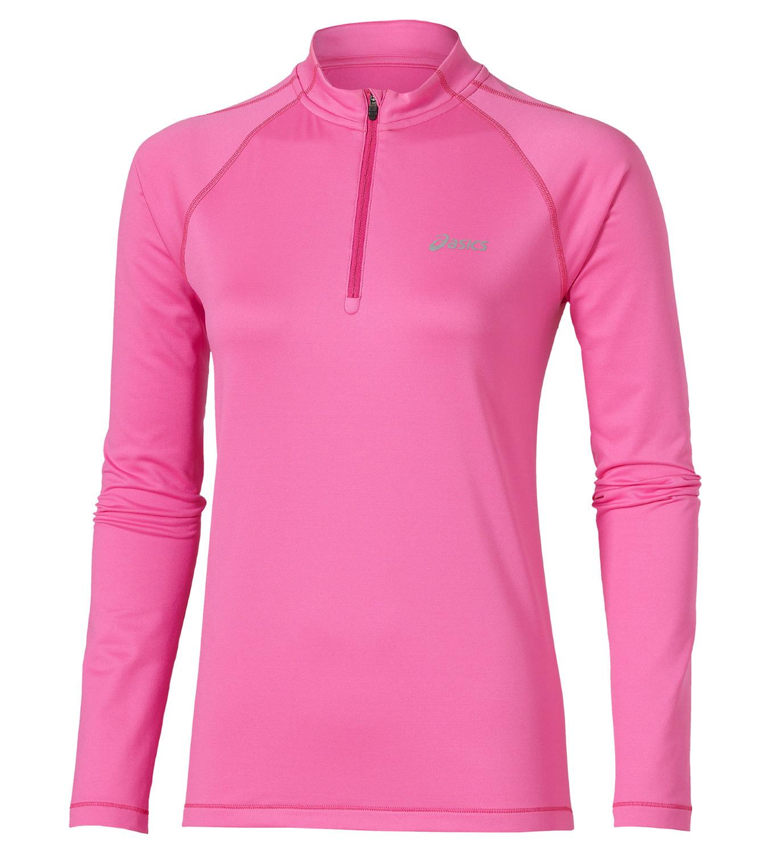 Женская беговая рубашка Asics Ess Winter 1/2 Zip (114639 0692) розовая