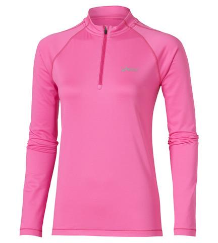 Беговая рубашка Asics Ess Winter 1/2 Zip женская розовая