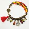 """Бейл TierraCast """"Hammertone"""" 12х8х3 мм (цвет-античная латунь) (Яркий браслет ручной работы. Пример)"""