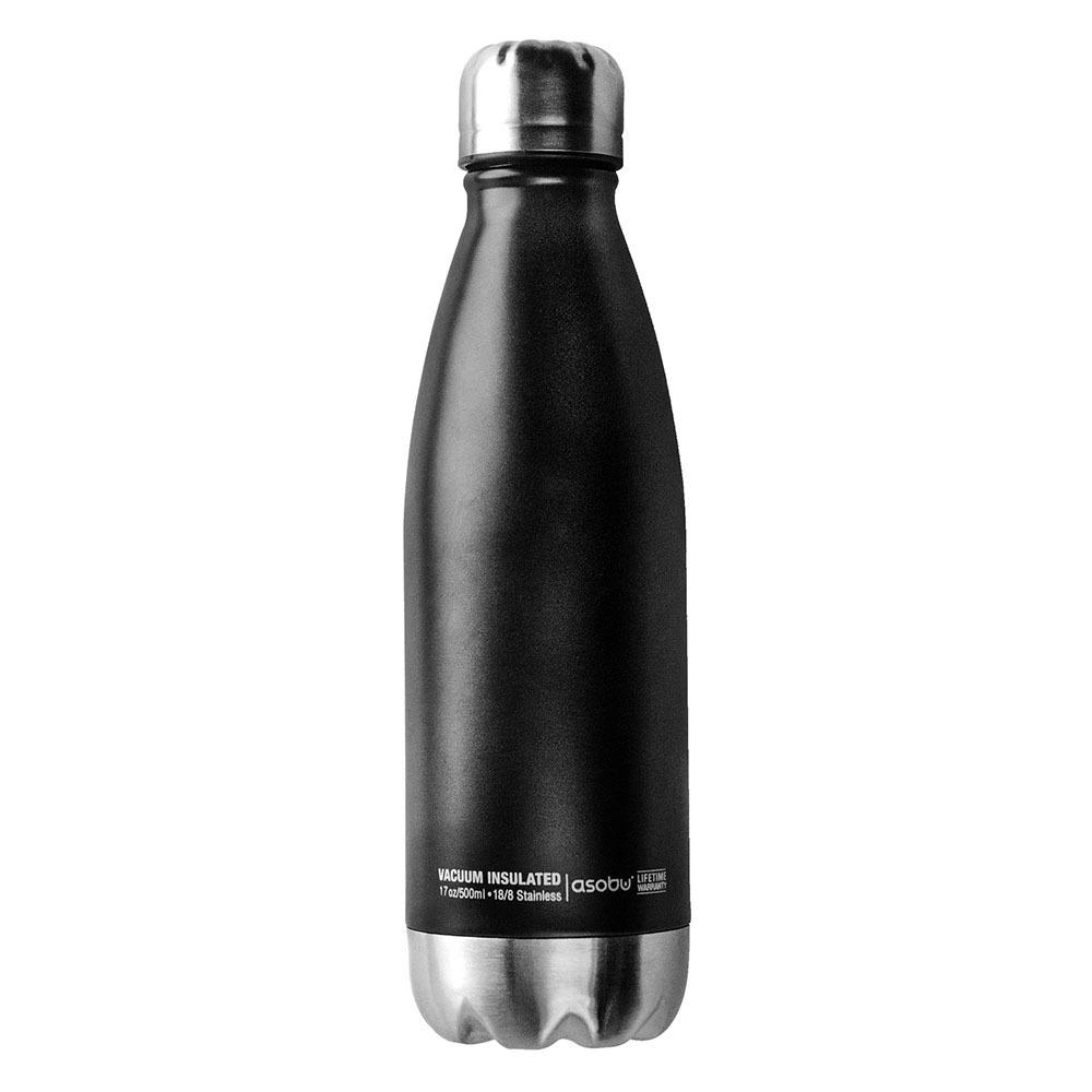 Термос-бутылка Asobu Central park (0,51 литра), черная/стальная*