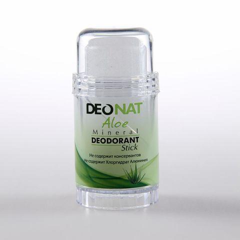 Deonat, Дезодорант Кристал с натуральными СОКОМ АЛОЕ  (зеленый футляр, ЗЕЛЕНЫЙ стик, twist-up), 80гр