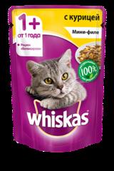 Whiskas мини-филе с курицей 85 гр