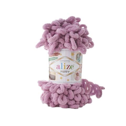 Купить Пряжа Alize Puffy Код цвета 520 Сухая Роза | Интернет-магазин пряжи «Пряха»