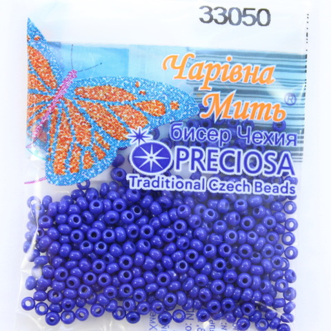 33050 Бисер 10/0 Preciosa Керамика синий