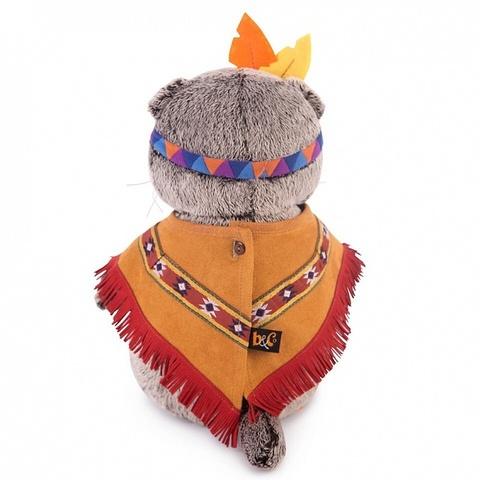 Кот Басик в костюме индейца
