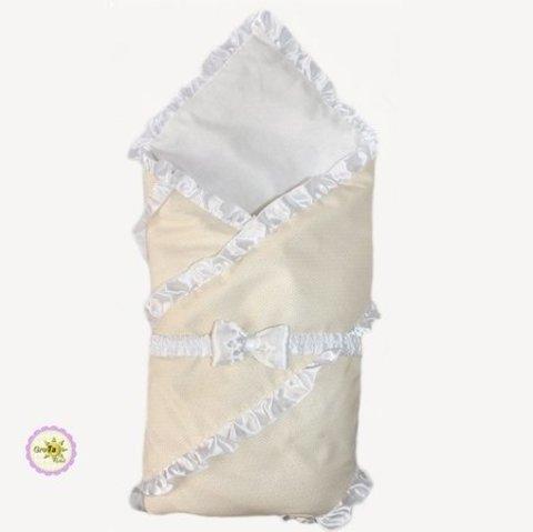 Конверт одеяло для новорожденных Бизе бежевый
