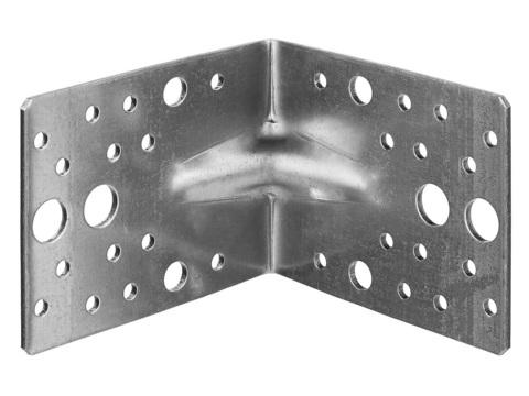 Уголок крепежный усиленный УКУ-2.5, 80х100х100 х 2.5мм, ЗУБР