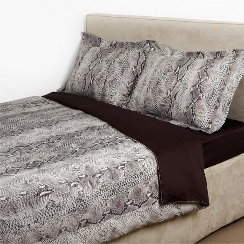 Постельное белье 2 спальное евро макси Roberto Cavalli Grace коричневое