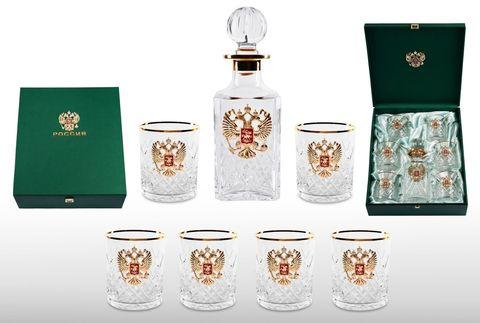 Хрустальный набор для виски со штофом «Президент»