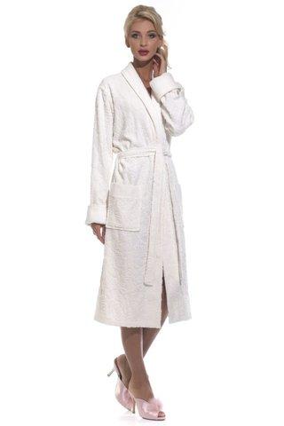 Casharel 731  белый облегченный женский  халат  PECHE MONNAIE Россия