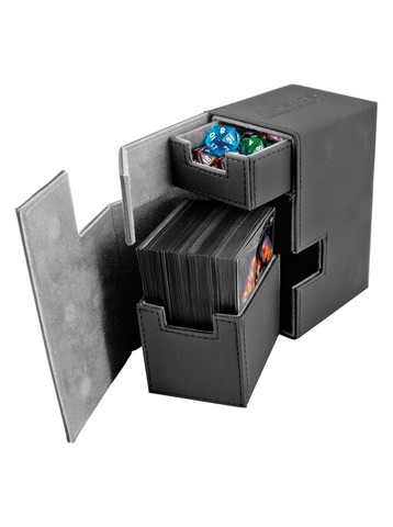 Ultimate Guard - Кожаная черная коробочка с отделением для кубиков