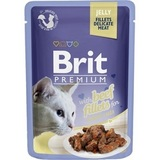 Brit Premium Cat Jelly Beef Fillets Консервы для кошек филе говядины в желе 24х85 г. (Пауч) (19910)