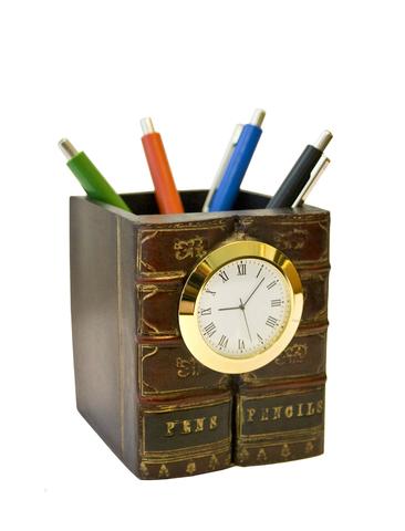 Карандашница с часами №3