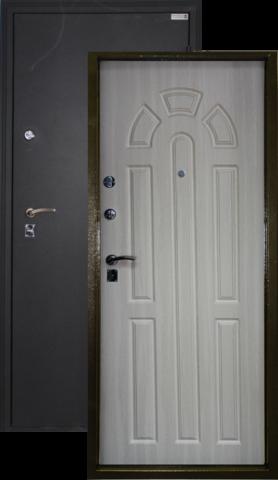Сейф-дверь Город Мастеров Дон, 2 замка, 1,5 мм  металл (чёрный шёлк+беленый дуб)