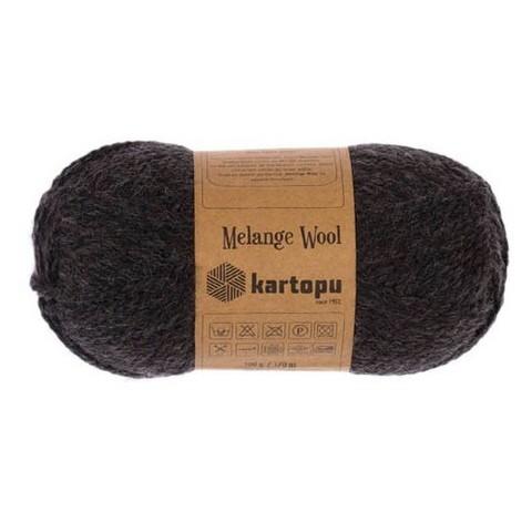 Пряжа Kartopu Melange Wool арт. 1010 темный графит