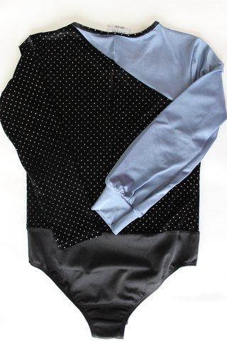 Боди для мальчика, рост 128-134 (черный, синий)