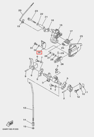 Скоба для лодочного мотора F20 Sea-PRO (18-30)