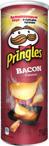 Чипсы Pringles со вкусом бекона 165г