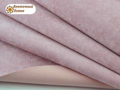 Бархат ЛЮКС для бантиков на флисовой основе розовый