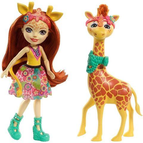 Кукла Энчантималс Джиллиан Жирафка с большим питомцем - Enchantimals, Mattel