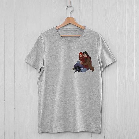 Серая футболка с Гарри и Джинни