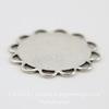 """Сеттинг - основа """"Ажурный"""" для камеи или кабошона 13 мм (оксид серебра)"""