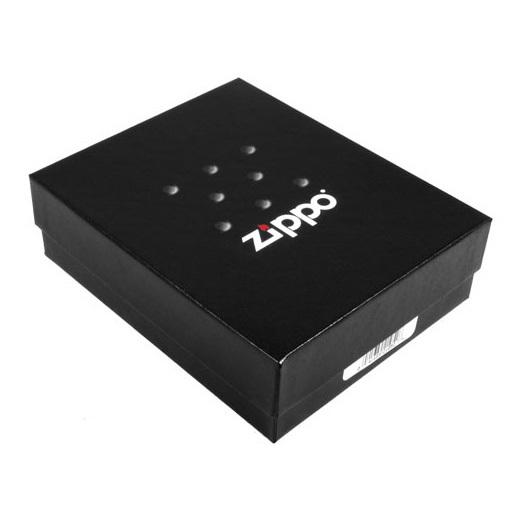 Зажигалка ZIPPO 200 Zippo Quality Assured, латунь/сталь с покрытием Brushed Chrome, 36x12x56 мм
