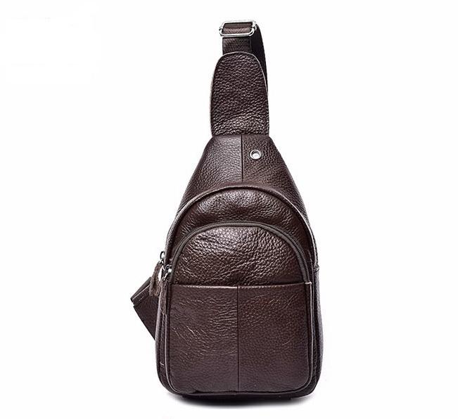 e11f4d45944b Небольшой однолямочный кожаный рюкзак 159