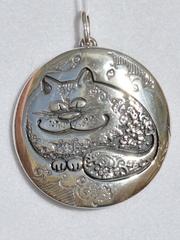 Коты Б (кулон из серебра)