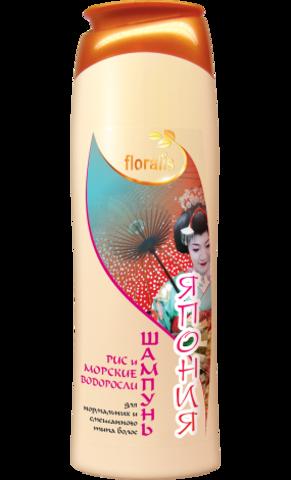 Floralis Восточные Страны Шампунь Рис и Морские водоросли Япония 500г