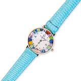 Часы на голубом ремешке (В НАЛИЧИИ) из муранского стекла