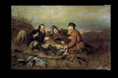 """Репродукция """" Перов - Охотники на привале"""""""