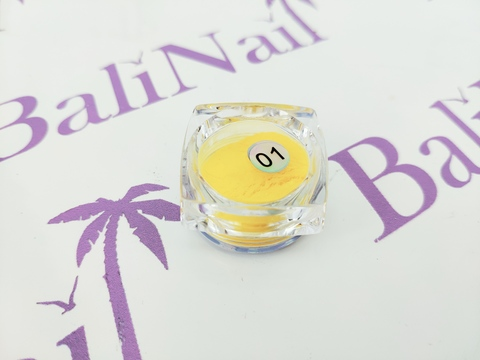Термо-пигмент для дизайна ногтей (желтый) #01