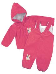 66077-3 комплект детский велюр, розовый