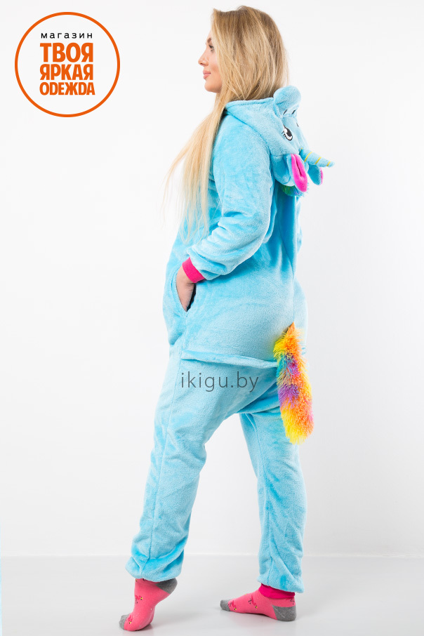 Пижамы кигуруми Единорог Бирюзово-Радужный biruz-crfp_unicorn1.jpg