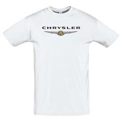Футболка с принтом Крайслер (Chrysler) белая