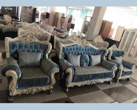 Набор мягкой мебели  ЭСМЕРАЛЬДА крем / бирюза