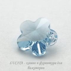 6744 Подвеска Сваровски Цветочек Aquamarine (14 мм)
