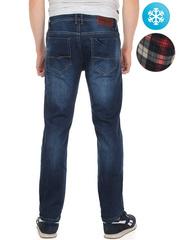 LN858 джинсы мужские утепленные, синие